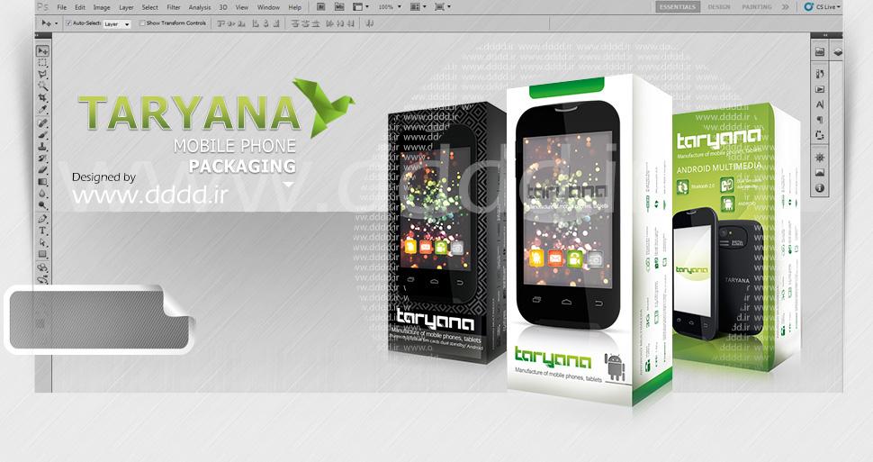 طراحی بسته بندی موبایل تاریانا