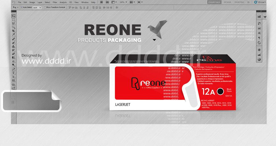 طراحی بسته بندی کارتریج ReOne