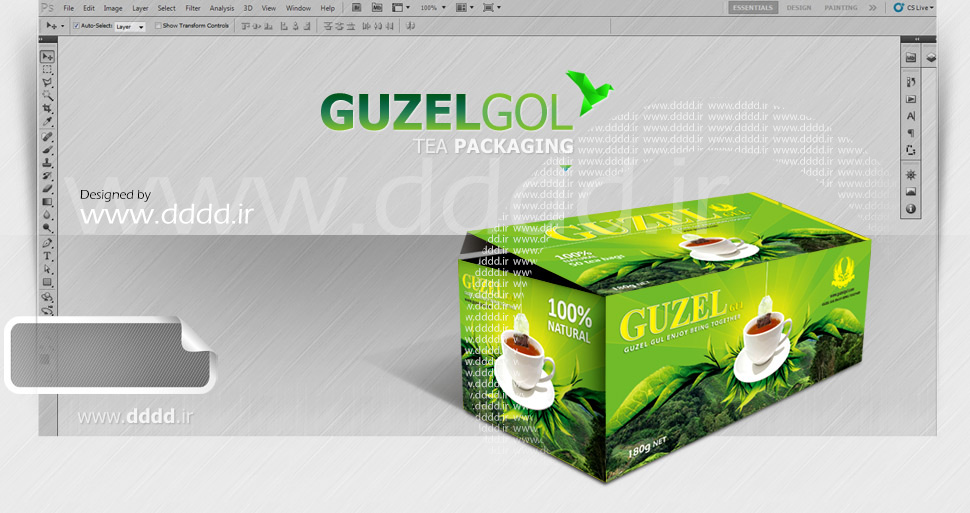طراحی بسته بندی چای گوزل گل