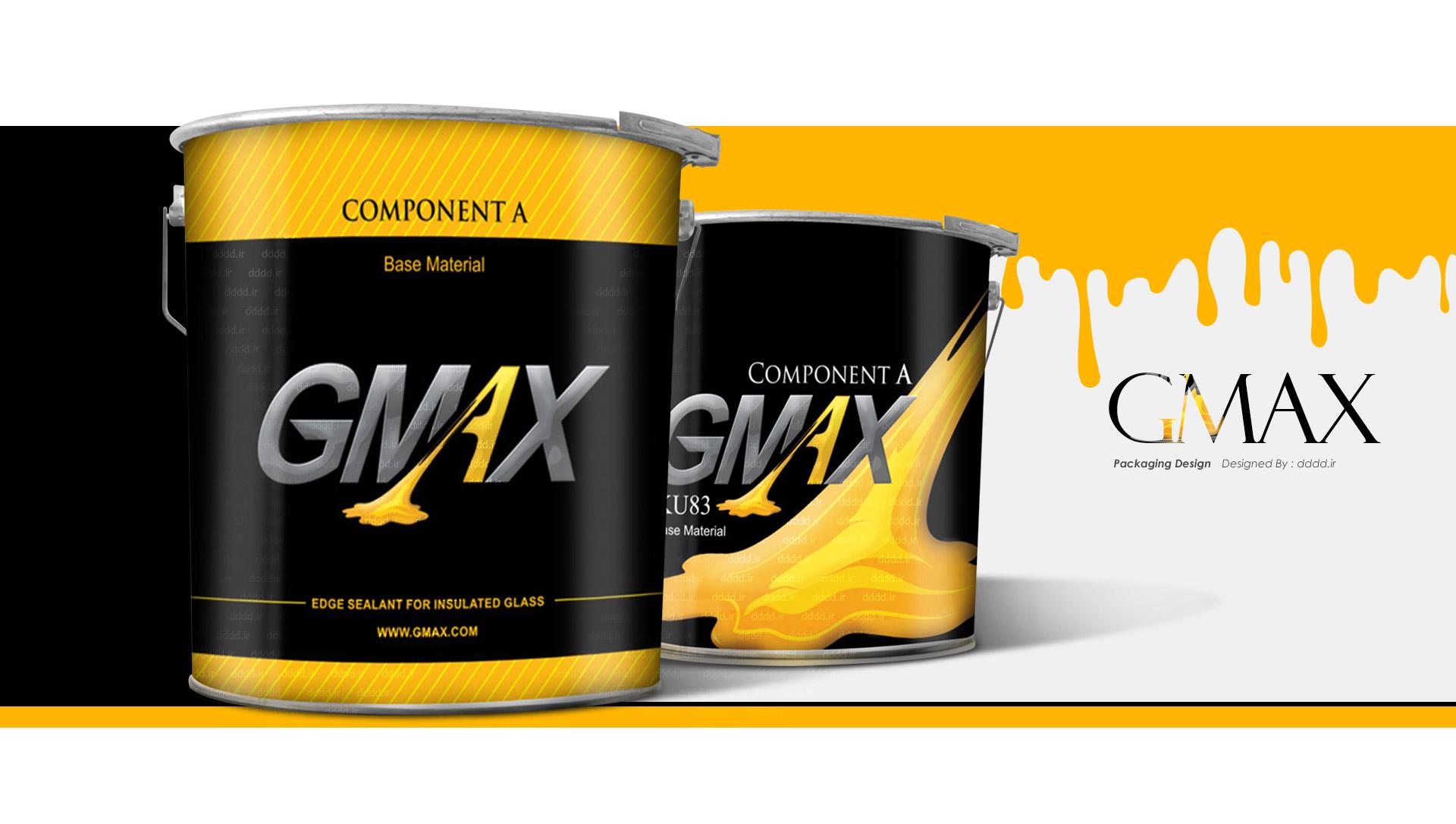 طراحی بسته بندی چسب جی مکس