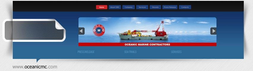 طراحی سایت شرکت Oceanic