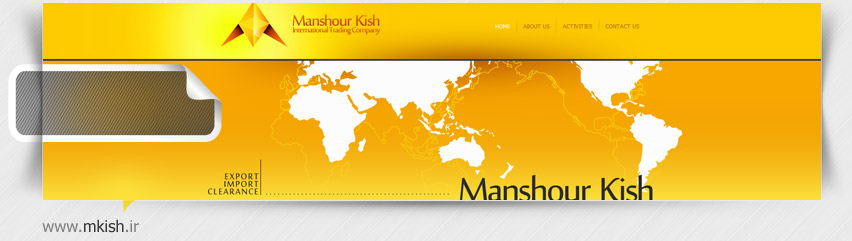 طراحی سایت شرکت منشور کیش