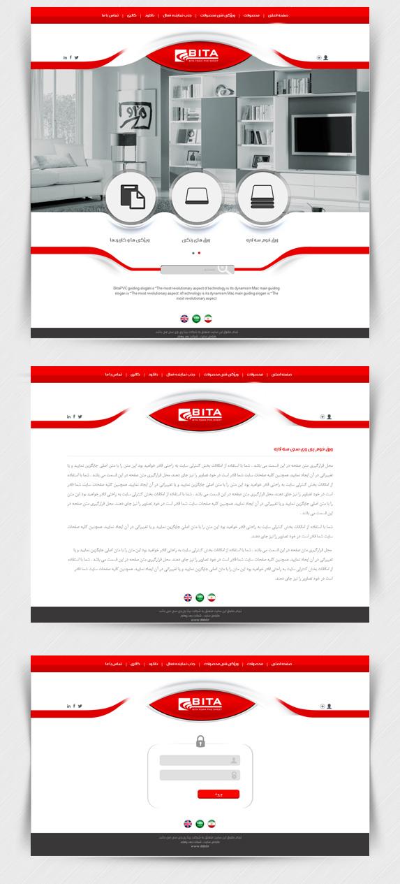 طراحی سایت شرکت صنعتی بیتا