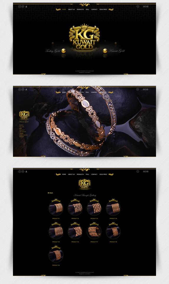 طراحی سایت طلا کویت گلد
