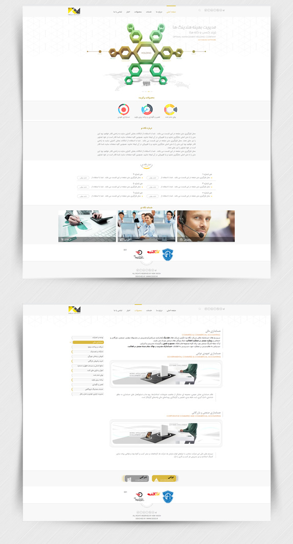 طراحی سایت شرکت نگاه نو