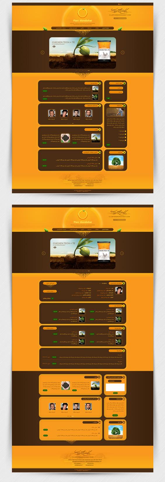 طراحی سایت باشگاه مشتریان پارس مرکبات