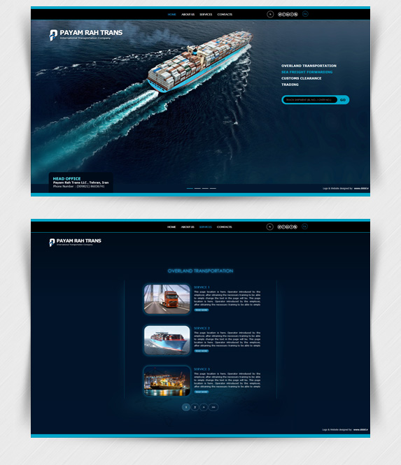 طراحی سایت شرکت پیام ره ترانس