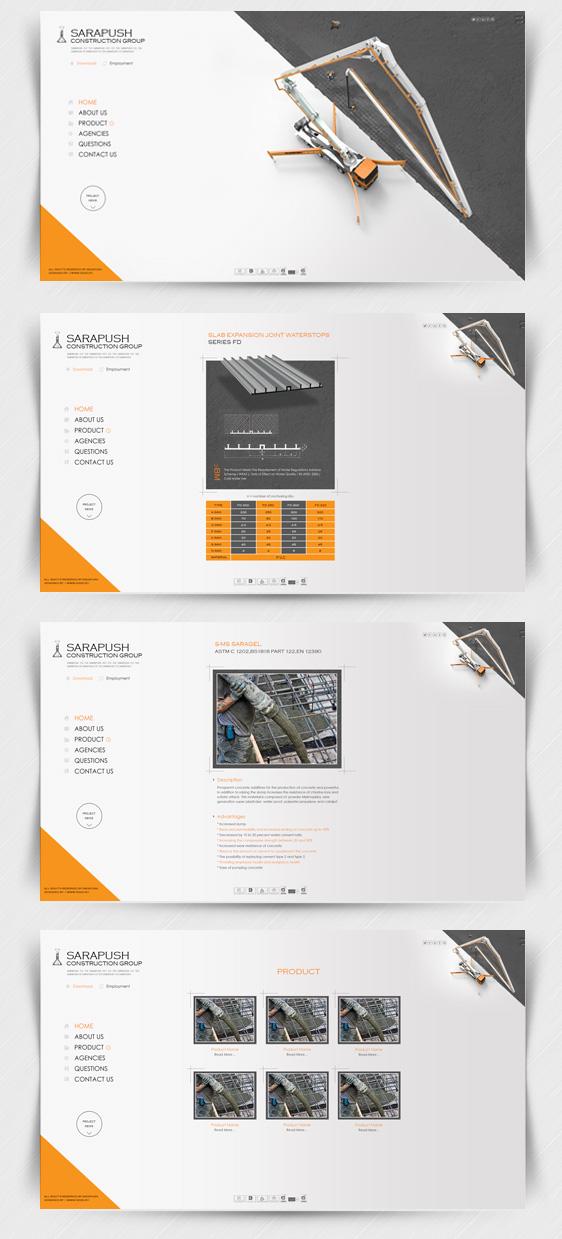 طراحی سایت شرکت ساختمانی سراپوش
