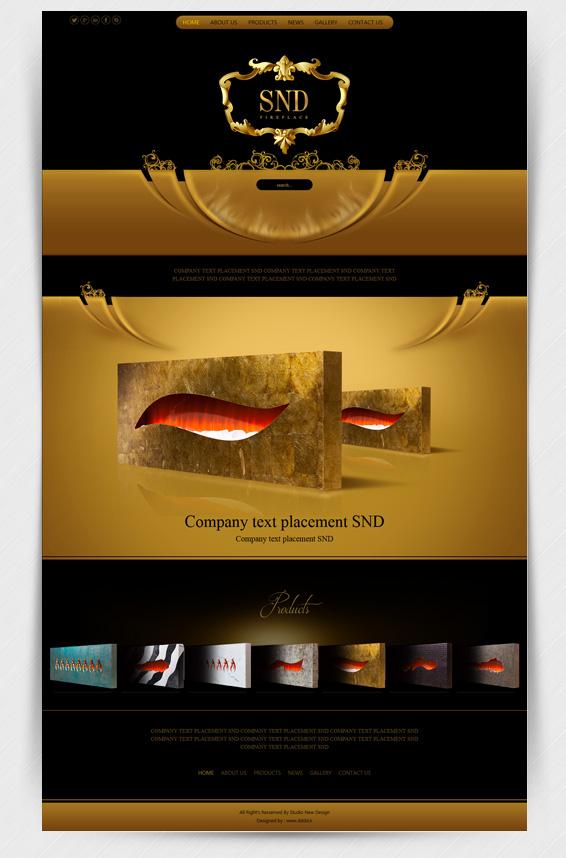 طراحی سایت شرکت شومینه خانه طرح نو